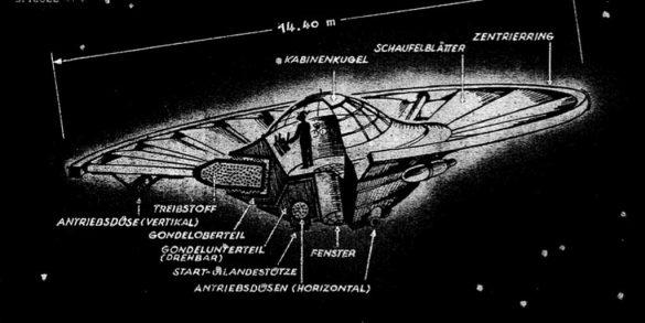 German flying saucer - fliegende Untertasse