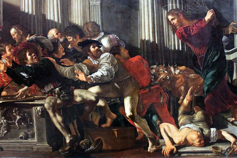 Expulsion of the merchants Caravaggio