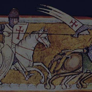 Templar knight medieval illustration