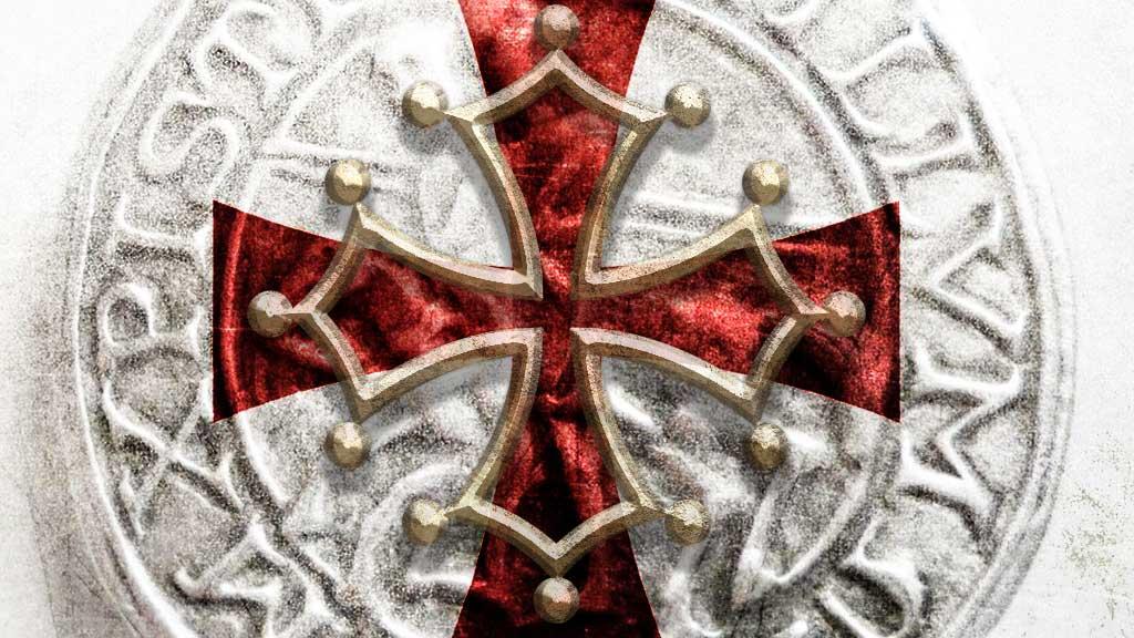 Templar cross and Cathar Cross