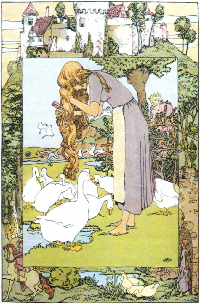 Goose Girl illustration by Vogeler