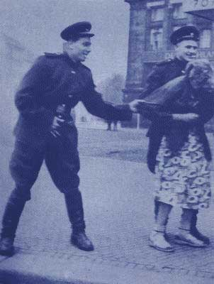 woman molested by soviet soldiers